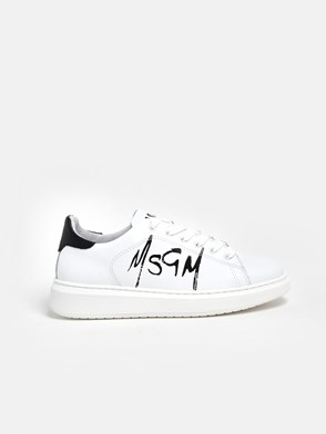 MSGM - SNEAKERS LOGO BIANCHE