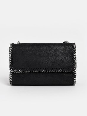 STELLA McCARTNEY - BLACK FALABELLA CROSS-BODY BAG