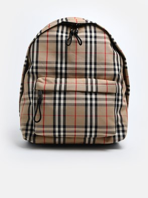 BURBERRY - POLYESTER AND COTTON BACKPACK
