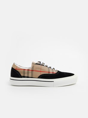 BURBERRY - BLACK CHECK WILSON SNEAKERS