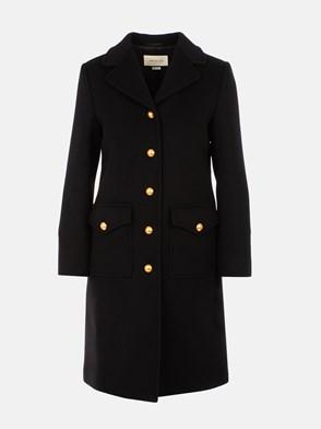 GUCCI - BLACK MARTINGALE COAT