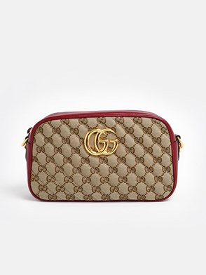 GUCCI - RED GG MARMONT CROSSBODY BAG