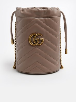 GUCCI - POWDER PINK GG MARMONT BUCKET BAG