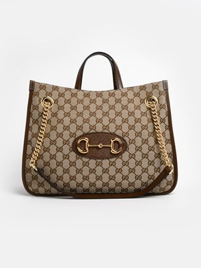 GUCCI - BEIGE HORSEBIT SHOPPING BAG