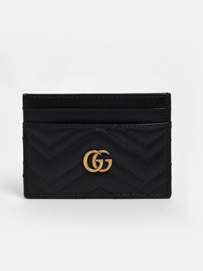GUCCI - BLACK GG MARMONT CARD HOLDER