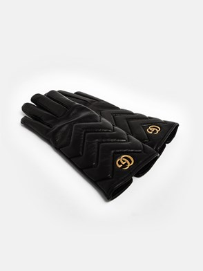 GUCCI - BLACK GG MARMONT GLOVES