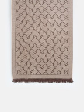 GUCCI - BROWN AND BEIGE SCARF