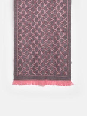 GUCCI - PINK AND GREY SCARF
