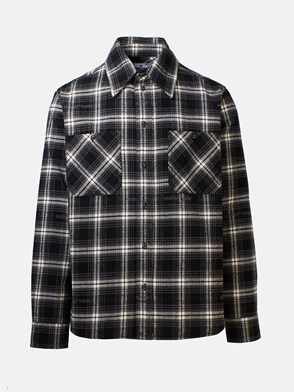 OFF WHITE - CAMICIA STENCIL CHECK NERA