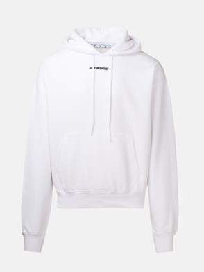 OFF WHITE - WHITE MARKER SWEATSHIRT