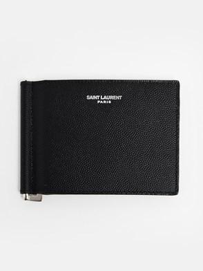SAINT LAURENT - BLACK PASSPORT HOLDER