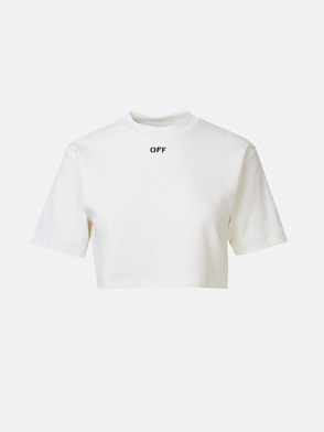 OFF WHITE - T-SHIRT CROPPED BIANCA
