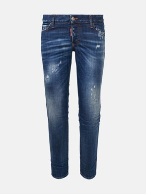 DSQUARED2 - JEANS JENNIFER CROPPED BLU
