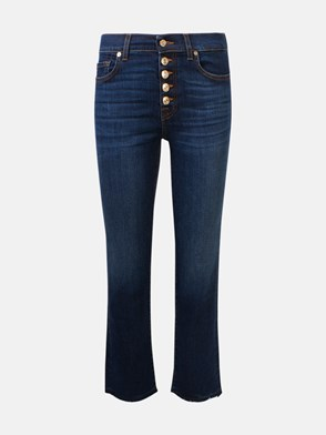 7 FOR ALL MANKIND - JEANS THE STRAIGHT CROP BLU