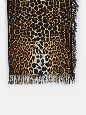 SAINT LAURENT - SCIARPA CARRE LEOPARDATA