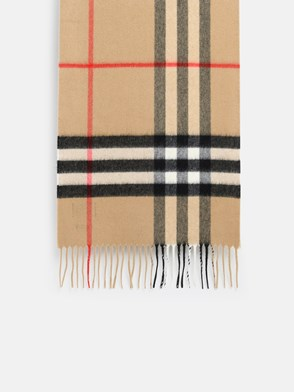 BURBERRY - BEIGE CHECK SCARF
