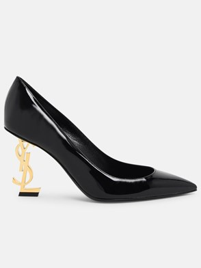 SAINT LAURENT - DECOLLETE LOGO TACCO NERE