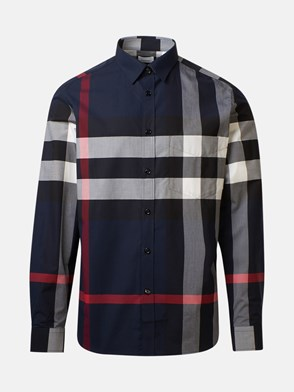 BURBERRY - CAMICIA CHECK BLU