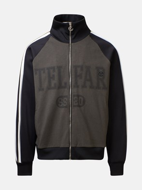 TELFAR - BLACK AND GREEN SWEATSHIRT