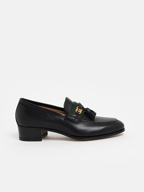 GUCCI - MOCASSINI PARIDE WEB NERI