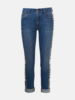 STELLA McCARTNEY - JEANS BANDA LATERALE BLU