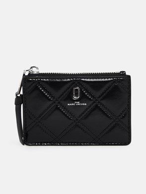 THE MARC JACOBS - PORTAMONETE QUILTED ZIP NERO