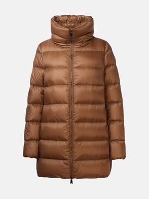 MONCLER - PIUMINO LUNGO ANGES MARRONE