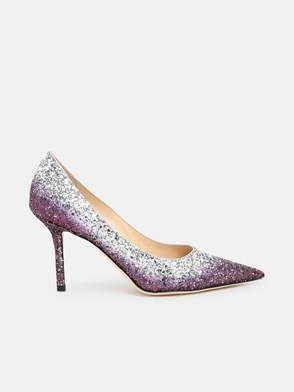 JIMMY CHOO - DECOLLETE LOVE 85 VIOLA ARGENT