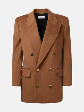 SAINT LAURENT - BLAZER MARRONE