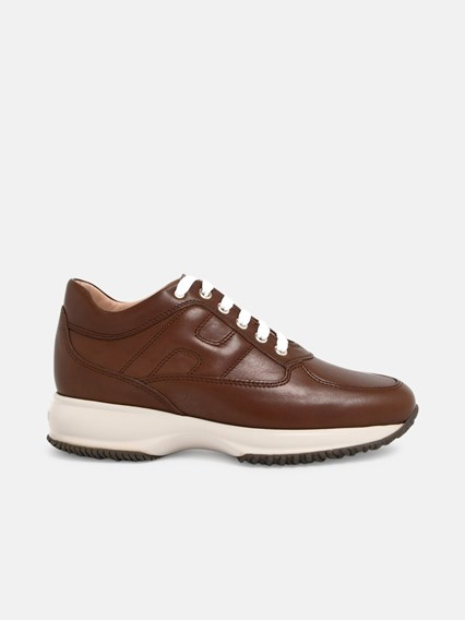 hogan SNEAKERS INTERACTIVE MARRONI available on www ...