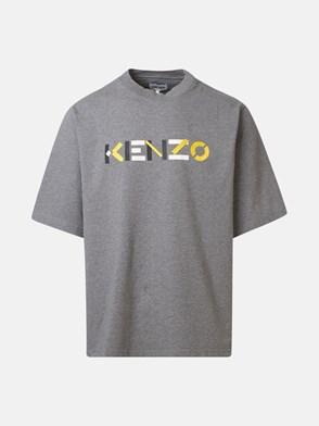 KENZO - T-SHIRT LOGO GRIGIA