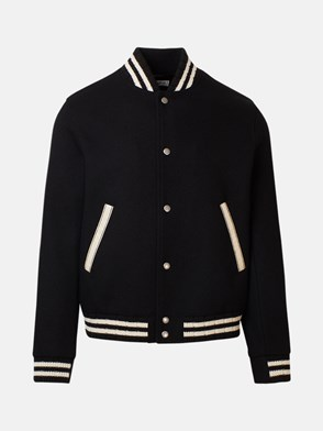 SAINT LAURENT - BOMBER TEDDY NERO