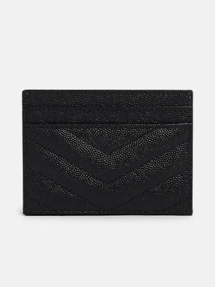 SAINT LAURENT BLACK CARD HOLDER - COD. 423291 BOW01         1000