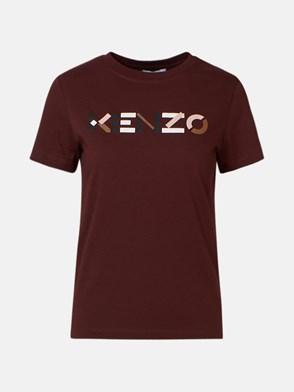 KENZO - T-SHIRT LOGO BORDEAUX