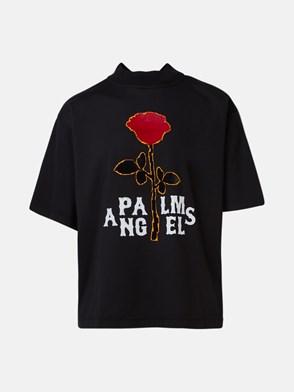 PALM ANGELS - T-SHIRT ROSE BOXY NERA