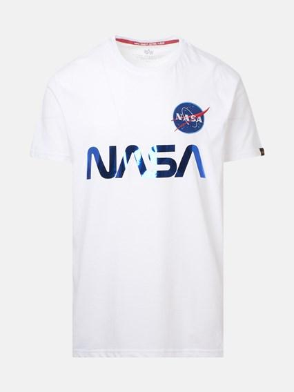 ALPHA INDUSTRIES T-SHIRT NASA REFLECTIVE BIANCA - COD. 178501               90
