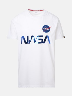 ALPHA INDUSTRIES - T-SHIRT NASA REFLECTIVE BIANCA
