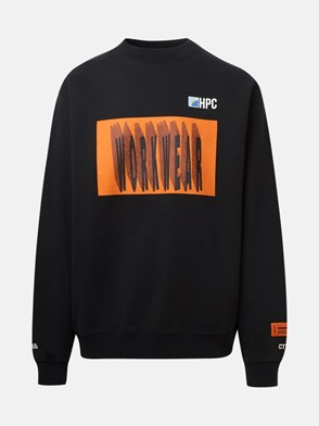 HERON PRESTON - FELPA GIROCOLLO WORKWEAR NERA