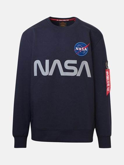 ALPHA INDUSTRIES FELPA NASA REFLECTIVE BLU - COD. 178309               07