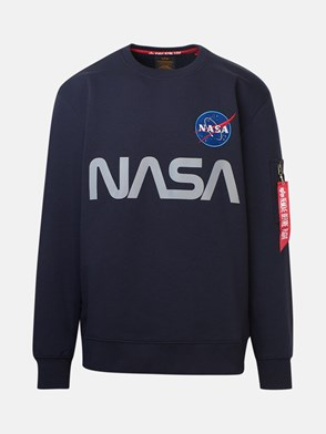 ALPHA INDUSTRIES - FELPA NASA REFLECTIVE BLU