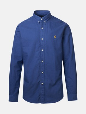 POLO RALPH LAUREN - CAMICIA GD OXFORD BLU