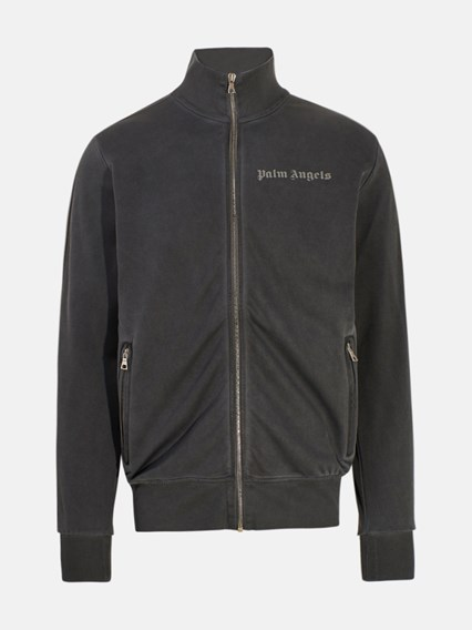 PALM ANGELS FELPA ZIP GARMENT DYED NERA - COD. PMBD001F20FAB003     1010