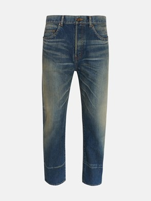 SAINT LAURENT - JEANS STRAIGHT BLU