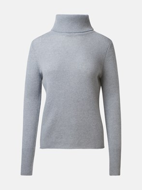 360 CASHMERE - LIGHT BLUE POPPI SWEATER