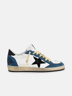 GOLDEN GOOSE DELUXE BRAND - BLUE AND WHITE BALLS SNEAKERS