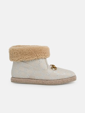 GUCCI - IVORY FRIA GG ANKLE BOOTS