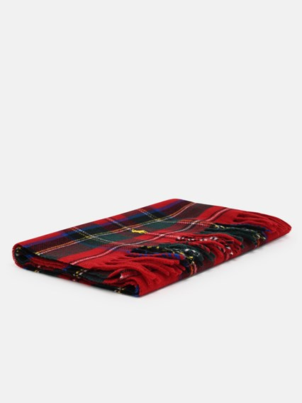 POLO RALPH LAUREN GREEN AND RED CHECK SCARF - COD. 449823788            004
