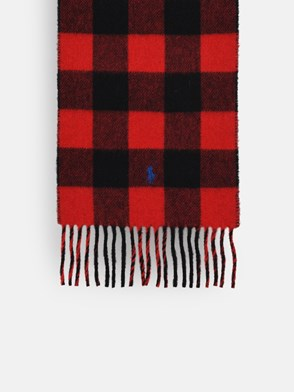 POLO RALPH LAUREN - RED CHECK SCARF