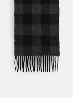 POLO RALPH LAUREN - GREEN AND YELLOW CHECK SCARF
