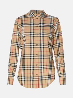 BURBERRY - CAMICIA LAPWING BEIGE